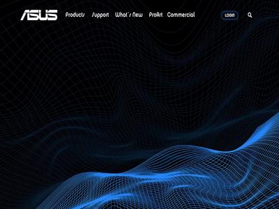 ASUS Landing Page illustration ux ui design logo asus
