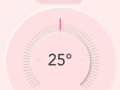 Dimmer ui  ux design interior temperature