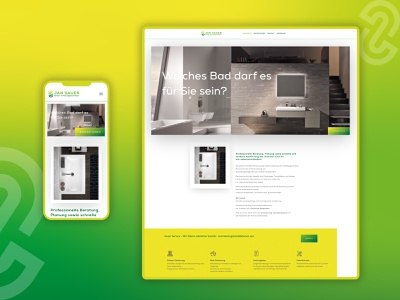 JAN SAUER | Sanitär- & Heizungsbaumeister  \ Website responsive design design corporate homepage design website design web design web website