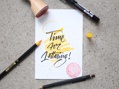 Time for Lettering ✍️ lettering art hello type letters hellotype brush lettering brushpen brush typography lettering