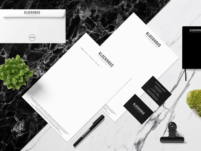 "We created the Brand Identity for ""KLOCKHAUS Dekoration OHG"". typography design grafikdesign hellotype xyzettgraphix logotype logo corporate design corporate business card corporate branding corporate identity corporate brand identity brand design branding"