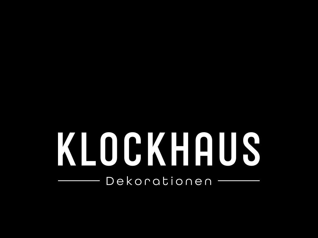 Logo – KLOCKHAUS Dekorationen artdirection logotype logodesign corporate branding lettering illustration ux ui vector hellotype xyzettgraphix brandingidentity type typography corporatedesign logo branding grafikdesign design corporate