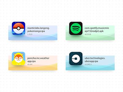 App Testing (card test) real mobile manual testing uber poncho spotify pokemongo browserstack wave widget app build