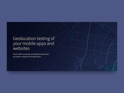 Test your location based scenarios landing page gps location ui