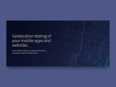 Test your location based scenarios landing page gps location ui