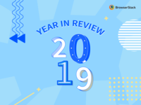 Year in review 2019 blog illustration 3d type abstract type letter