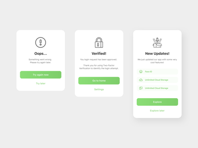 overlay / pop-up / notifications figma mobile app dailyuichallenge dailyui clean ui icons button design notifications notification uidesign overlays overlay popup modal icon minimal design system ux ui