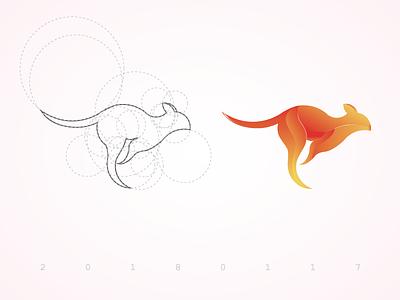 kangaroo illustrator app web design kangaroo logo