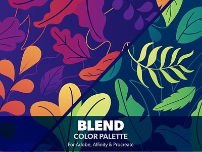 Blend color palette ramp blend colours color palettes color colour ase swatches colors color palette