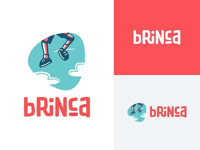 Brinca branding drawn feet logotype jump sky animation mexico brand custom handmade fun branding logo