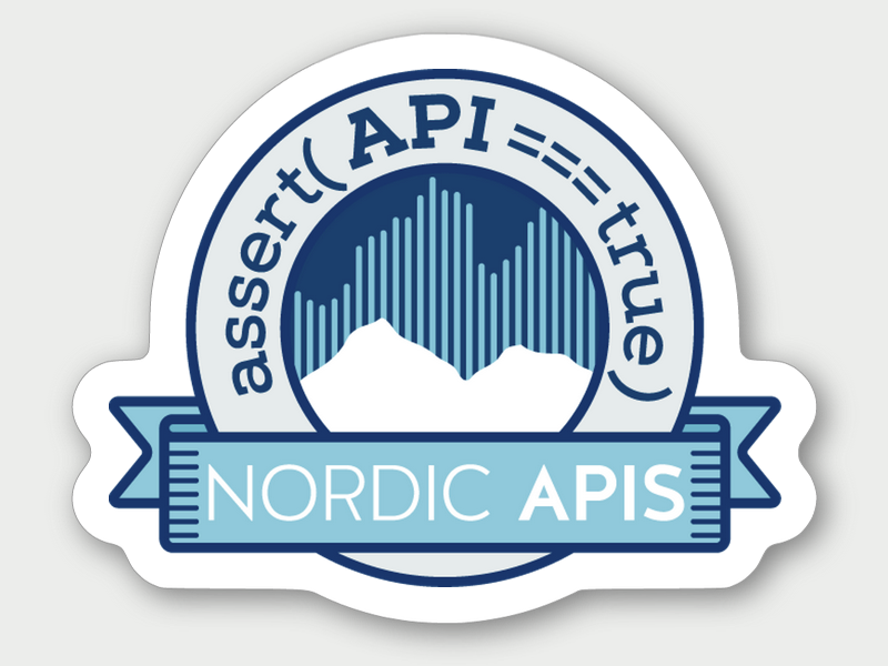 NordicAPis sticker conference apis sticker badge nordic mountain api