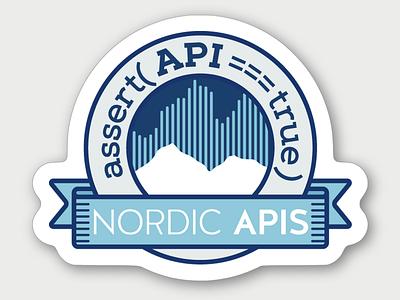 NordicAPis sticker conference apis sticker badge nordic mountain api