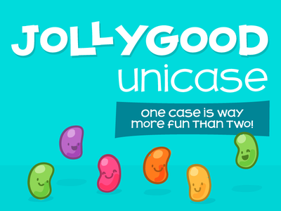 Jollygood Unicase Font type design candy jellybean jollygood typography monocase unicase font comic cartoon