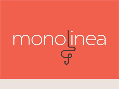 Monolinea 2016 geometric flourish typography line logo