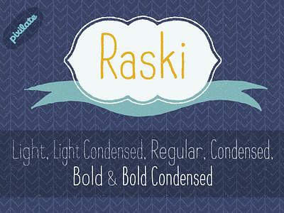 Raski Hand drawn font type design typeface rough handwritten font