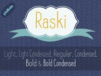 Raski Hand drawn font