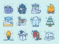 Winter Creatures Sticker Pack