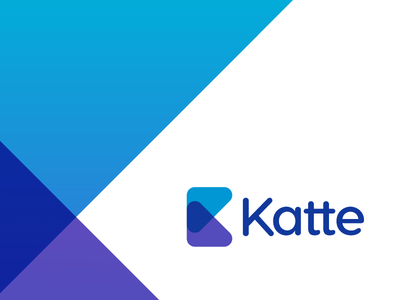 Katte ID purple id angles triangles blues blue simple geometric logo