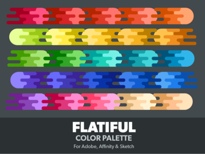 Flatiful Color Palette scheme ase colours sketch affinity photoshop illustrator flat colors palette swatches color