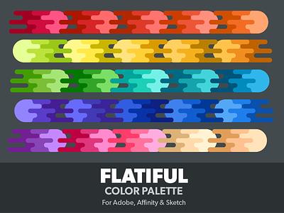 Flatiful Color Palette scheme ase colours sketch affinity photoshop illustrator flat colors palette swatches color