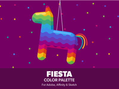 Fiesta Color palette piñata rainbow sketch affinity adobe ase swatches flat palette colors color