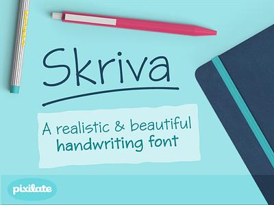 Skriva handwriting font lettering handwritten handwriting type typography font