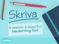 Skriva handwriting font
