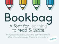 Bookbag school font