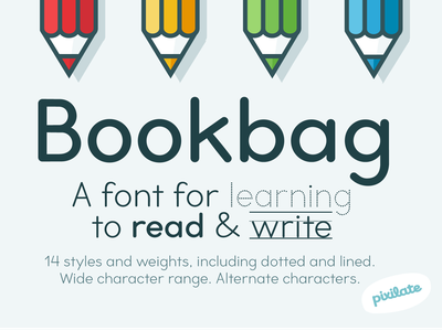 Bookbag school font rounded typedesign typeface children school font cute typography