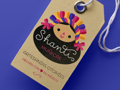 Doll logo vector typography handmade tag handcraft branding mexico label otomi doll mexican cute logo