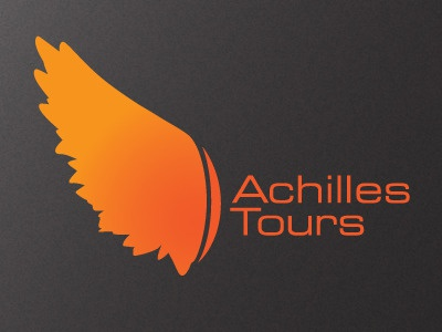 Achilles Tours Running Company running logo identity tour san francisco achilles jogging sight-seeing
