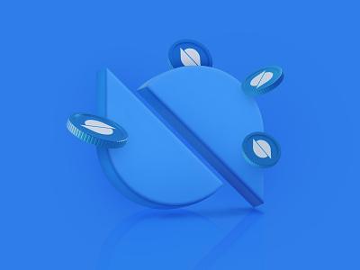 What is Ontology? graphic design ui blog app neobank coin finance blue 3d illustration 3d ontology cryptocurrency crypto digital art illustration