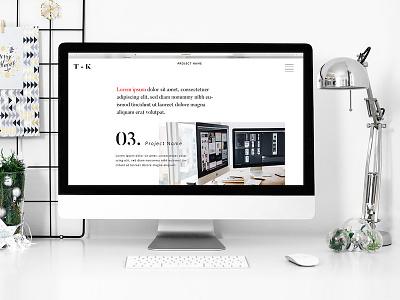 Personal portfolio screen branding photoshop illustrator portfolio webdesign ux ui