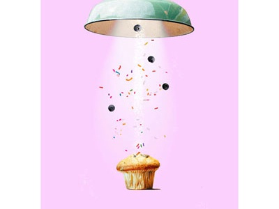 We see things differently. muffin photoshop photo manipulation ad advertising print