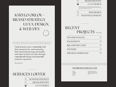 Portfolio design concept figma web design modern concept redesign portfolio