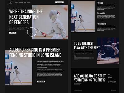 Homepage sports website landing sports branding sports design ux ui modern figma web design