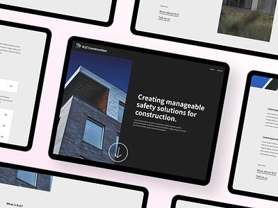 Business company website re-design ux ui landing design business website redesign web design modern figma