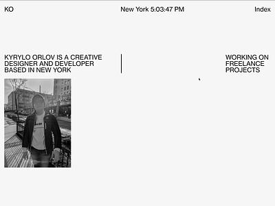 Portfolio re-design exploration 2 concept landing portfolio creative web design creative website redesign design web design modern
