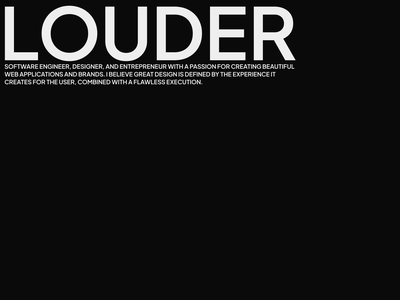 Louder; take up more space personal branding personal typography branding ui