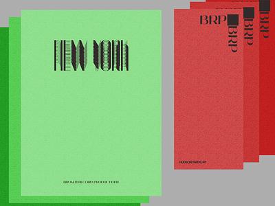 BRP typography business card print design print paper illustration design concept modern branding ui