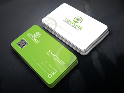 Complete Companys V card design advertisement illustration branding typography business card