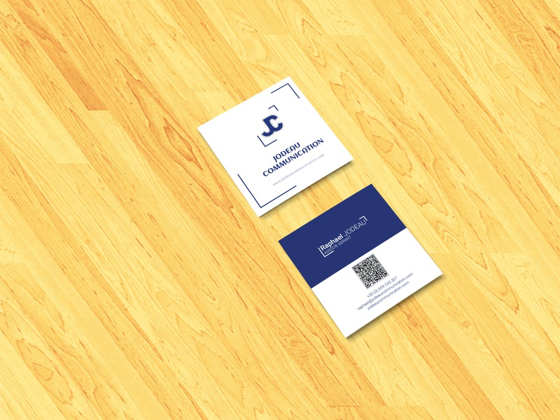 Business Card flat logo illustration design advertisement id card branding business card typography