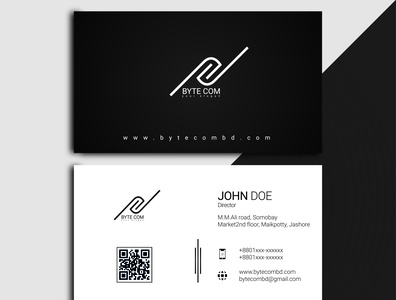 DV 0001 vector business card logo flat design branding typography