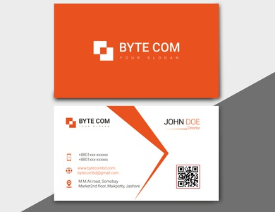 DV Vector 0006 vector business card flat logo design branding typography