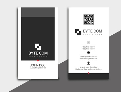 DV Vector 0008 vector business card flat design logo branding typography