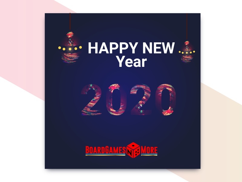 Happy New Year 2020 design advertisement illustration branding cover design typography