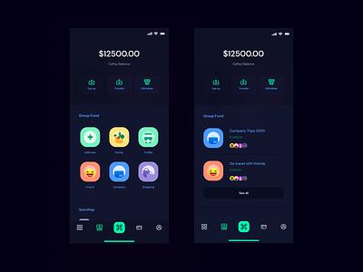 Wallet Dark UIX user experience user interface dark startup screen interface application ux ui theosm india designer design