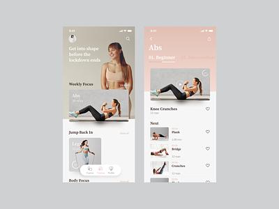 Fitness app uix ios app ui app ux design app ui design yoga app ui ux fitness screen startup interface application ux ui theosm india designer design