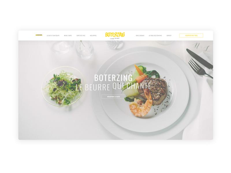 Design UI/UX - Restaurant gastronomy restaurant food ux webdesign web ui  ux design design ui