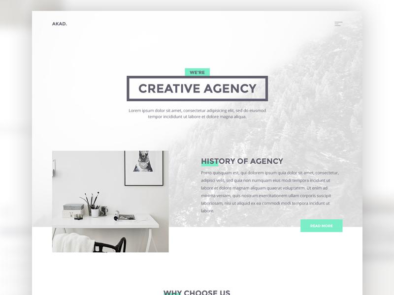 AKAD - Free PSD & HTML Template download free digital agency creative javascript css html template web light akad